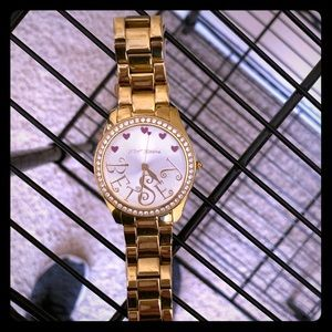 Gold Betsey Johnson watch